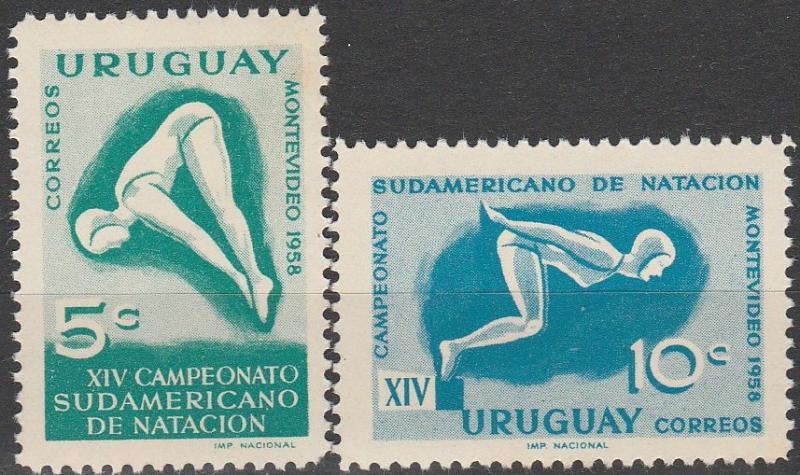 Uruguay #628-9 MNH F-VF (V889L)