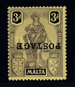 Malta, Sc 122a (SG 149a), MLH, Overprint Inverted variety