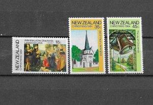 New Zealand MNH 808-10 Christmas 1984