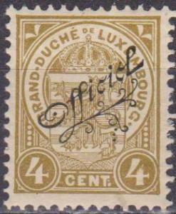 Luxembourg #O82  MNH F-VF (ST1022)