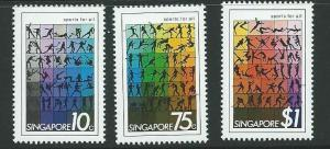 SINGAPORE SG404/6 1981 SPORTS FOR ALL MNH