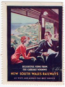 (I.B) Australia - NSW Government Railways : Promotional Label (Views)
