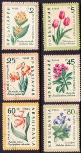 Bulgaria #1107-12 CTO cpl flowers