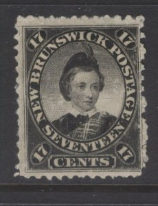 NEW BRUNSWICK 11 1860 CENTS ISSUE 17c BLACK PRINCE OF WALES MPH CV$55