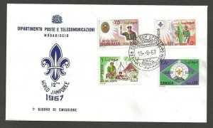 1967 Somalia Scouts XII World Jamboree FDC