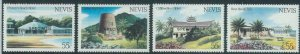 78435b  -  NEVIS  - STAMPS:  ARCHITECTURE  4 values MNH - Overprinted SPECIMEN