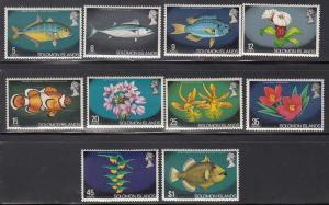 Solomon Islands, Sc 236-245, MNH, 1972, Fish & Flowers