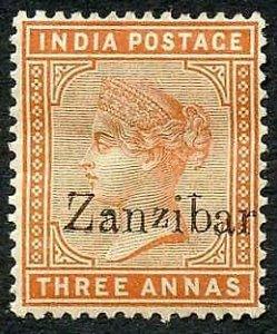 Zanzibar SG10 3a brown-orange Small second Z and inverted Q for B M/M