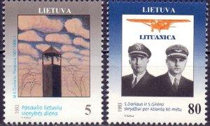 Lithuania. 1993. 529-30. Aviation. MNH.