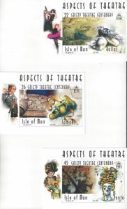 Isle of Man 866-7 Post/Maximum Cards. Gaity Theatre  6 Dif Cards
