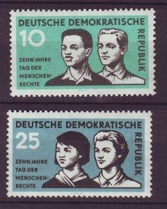 J24157 JLstamps 1958 germany DDR set mnh #414-5 people