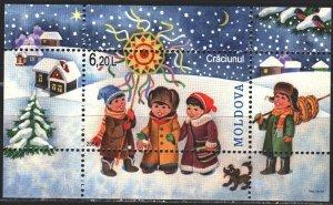 Moldova. 2008. bl 44. Dog, kids, christmas. MNH.