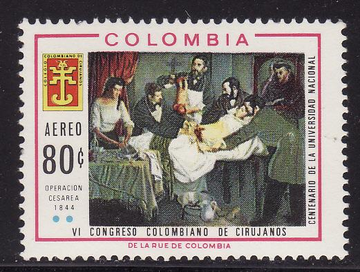 Colombia #C493, F-VF Mint NH ** Surgeons Congress
