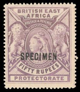 British East Africa Scott 109s Gibbons 99s Specimen