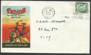 NEW ZEALAND 1955 PHILLIPS BICYCLES advertising cover.......................64708