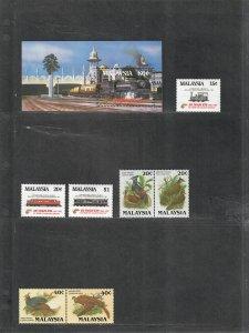 Malaysia Sc#301*304, 320-325 M/NH/VF, Cv. $33.35