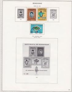 honduras issues of 1970/71 stamps sheet ref 17800