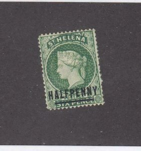 ST HELENA # 33 VF-MH Q/VICTORIA 1/2ct SURCHARGE CAT VALUE $11.50