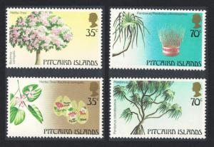 Pitcairn Trees of Pitcairn Islands 1st series 4v SG#242-245 SC#229-230ab