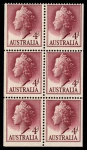 Australia - Mint Booklet Pane Scott #294a (Queen Elizabeth II)