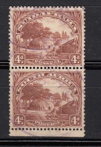 J28443, 1927-8 south africa used pair #28 perf type 14x131/2 view