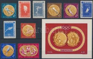 Romania stamp Summer Olympcs, Melbourne set + block MNH 1961 WS136282