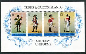 Turks & Caicos Islands 302a SSht Mint NH Uniforms.