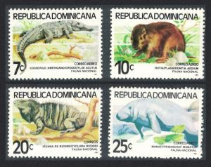 Dominican Rep. Crocodile Dugong Wild animals 4v 1980 MNH SG#1408-1411