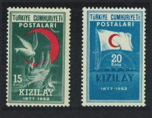 Turkey 75th Anniversary of Red Crescent Society 2v D2 SG#1497-1498 MI#1341-1342