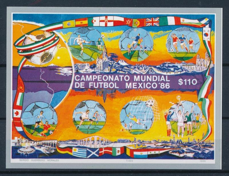 [59634] Mexico 1986 World Cup Soccer Football  MNH Sheet