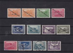 albania 1925  mounted mint + used overprint stamps set    ref 7225