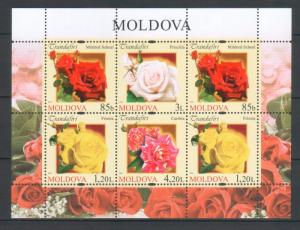 Moldova 2012 Flowers Roses 6 MNH stamps Sheet