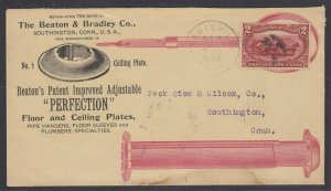 US, 2c Trans-Miss on 1898 Floor & Ceiling Plates ADVERTISING cover to CT