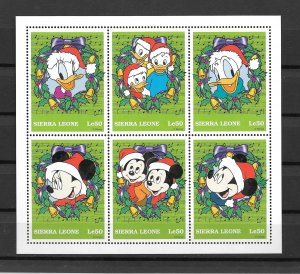 Sierra Leone MNH S/S 2077 Mickey Mouse & Donald Duck