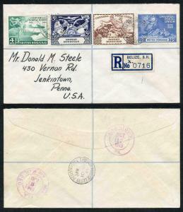 British Honduras SG172/5 10 Oct 1949 UPU Set on FDC