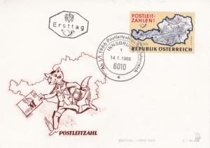 Austria 1966 Introduction of Post Code System FDC Unadressed VGC