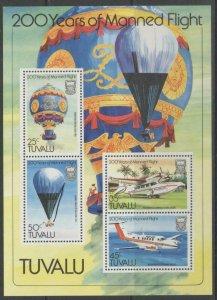 TUVALU SGMS229 1983 CENTENARY OF MANNED FLIGHT MNH