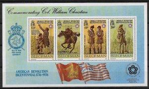 Isle Of Man MNH S/S 81a US Bicentennial 1976