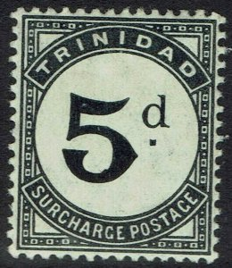 TRINIDAD 1905 POSTAGE DUE 5D MNH ** WMK MULTI CROWN CA