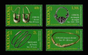 Moldova 2004 Museum Archaeology Treasure Jewelry 4 MNH stamps