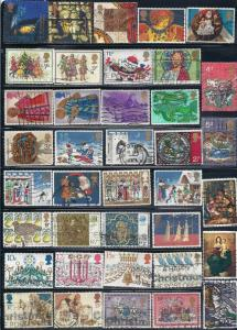 Great Britain Lot #825-1 (38) (U) various Christmas Issues