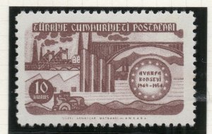 Turkey 1954 Early Issue Fine Mint Hinged 10k. NW-18197