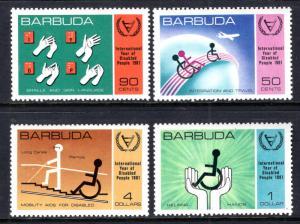 Barbuda MNH 502-5 International Year Of Disabled People 1981