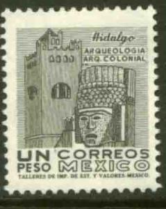 MEXICO 928, $1P 1950 Def 8th Issue Fosforescent, glazed. MINT, NH. F-VF.