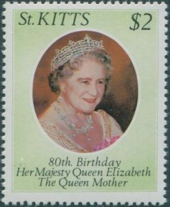 St Kitts 1980 SG48 $2 Queen Mother 80th Birthday MNH