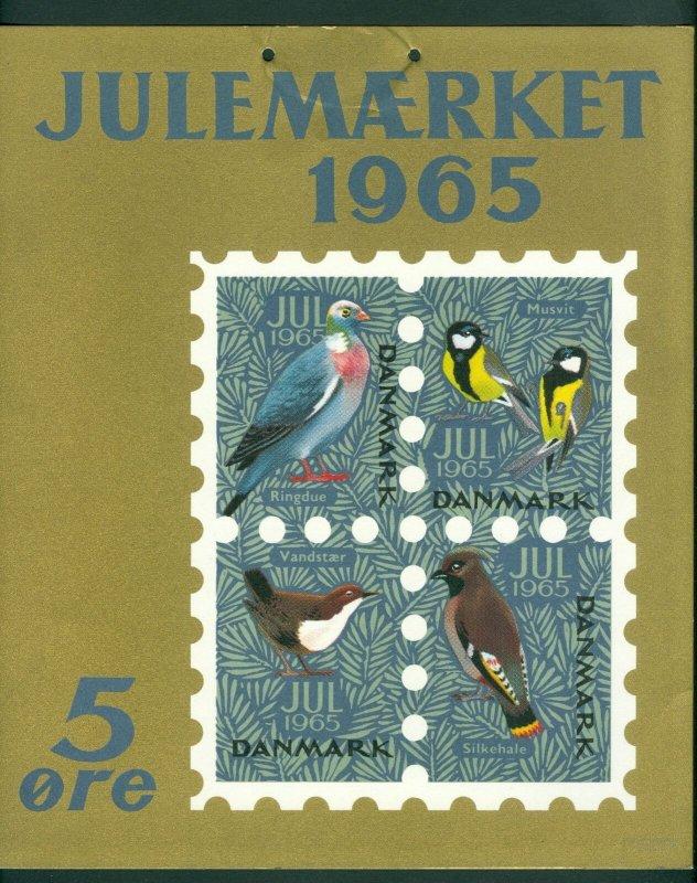 Denmark.. 1 Post Office,Display,Advertising Sign. Birds. Christmas Seal 1965