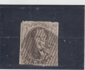 Belgium  Scott#  6  Used  (1851 King Leopold I)