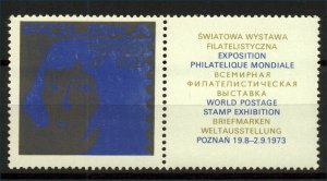 Poland 1973 Poznan Philatelic Exhibition Label
