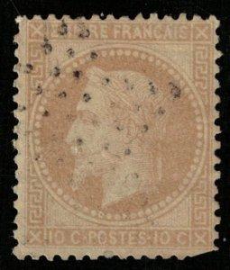 France, 1863-1870 Emperor Napoléon III, 10 c, YT #28 (Т-7984)