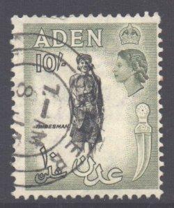 Aden Scott 60 - SG70, 1953 Elizabeth II 10/- used